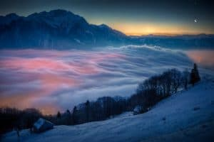 Northern lights mist