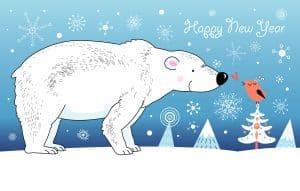 Happy New Year Polar Bear